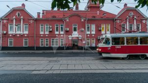 Административный корпус Замоскворецкого трамвайного депо, 1909 г., арх. М.Н. Глейнинг
