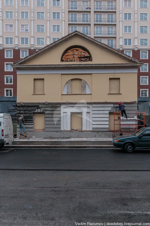 Восточный флигель, 1803-1804 гг., арх. Ф.К. Соколов, Мытный двор
