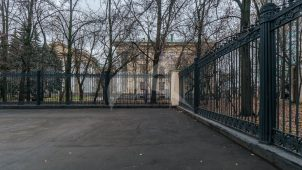 Ограда с воротами, Физический институт им. П.И. Лебедева