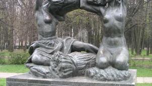 Памятник «Хлеб», 1963 г., ск. В.И. Мухина, Н.Г. Зеленская, арх. И.Е. Рожин, бронза, гранит