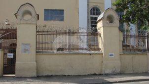 Ограда с воротами и калиткой, 1904-1908 гг., арх. В.Н. Башкиров, центральная электрическая станция городского трамвая