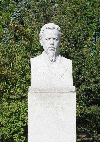 Памятник А.С. Попову, 1954 г., ск. М.Т. Литовченко, гранит